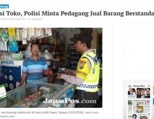 Operasi Toko, Polisi Minta Pedagang Jual Barang Berstandard SNI