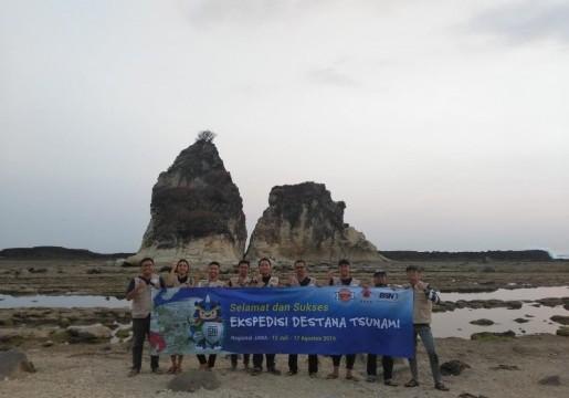 Tim Ekspedisi Destana Tsunami Badan Standardisasi Nasional (BSN) melakukan penilaian ketangguhan desa dan sosialisasi SNI terkait ketangguhan bencana di Kabupaten Lebak, Banten.