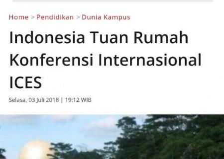 Indonesia Tuan Rumah Konferensi Internasional ICES