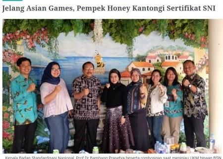 Jelang Asian Games, Pempek Honey Kantongi Sertifikat SNI