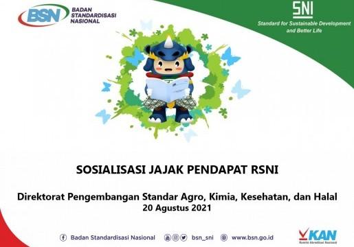BSN Gelar Jajak Pendapat 14 RSNI Lingkup Agro, Kimia, Kesehatan, dan Halal
