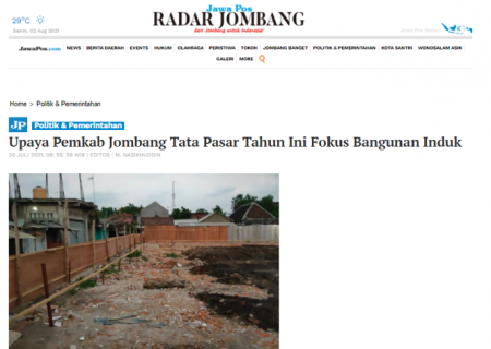 Upaya Pemkab Jombang Tata Pasar Tahun Ini Fokus Bangunan Induk