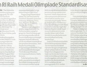 Tim RI Raih Medali Olimpiade Standardisasi