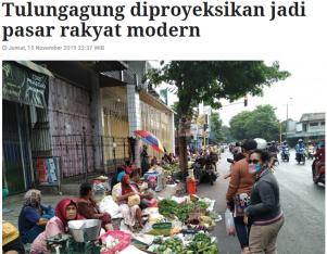 Usai terbakar, Pasar Ngunut Tulungagung diproyeksikan jadi pasar rakyat modern