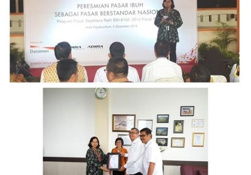 Pasar Ibuh Pasar ber SNI pertama di Sumatera