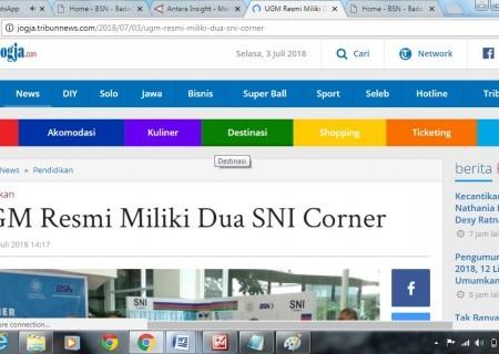 UGM Resmi Miliki Dua SNI Corner