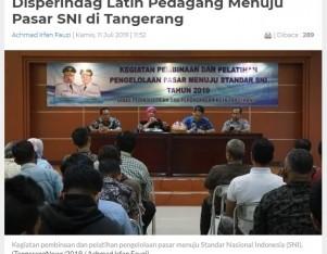 Disperindag Latih Pedagang Menuju Pasar SNI di Tangerang