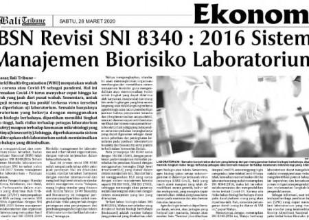 BSN Revisi SNI 8340:2016 Sistem Manajemen Biorisiko Laboratorium