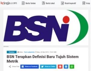 BSN Terapkan Definisi Baru Tujuh Sistem Metrik