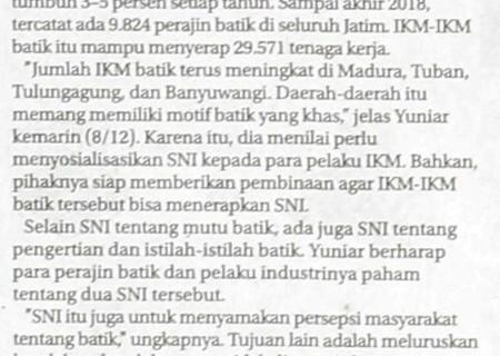 Dorong IKM Batik Ber-SNI