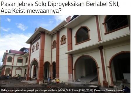 Pasar Jebres Solo Diproyeksikan Berlabel SNI, Apa Keistimewaannya?