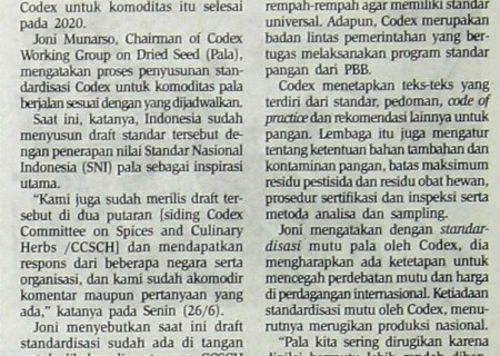 Pala Indonesia Siap Bersaing pada 2020