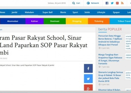 Program Pasar Rakyat School, Sinar Mas Land Paparkan SOP Pasar Rakyat di Jambi