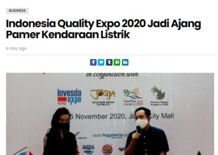Indonesia Quality Expo 2020 Jadi Ajang Pamer Kendaraan Listrik