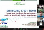 BSN Gelar Knowledge Sharing SNI ISO/IEC 17021-1:2015