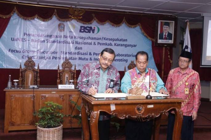 BSN dan UNNES Gelorakan Semangat Standardisasi dalam Tri Dharma Perguruan Tinggi