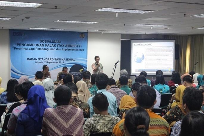 BSN Bekerjasama dengan KPP Jakarta Menteng I Sosialisasikan Tax Amnesty