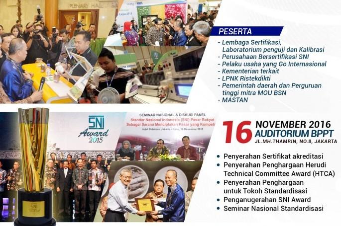 Penyelenggaraan Indonesia Quality Expo (IQE) 2016 dan Rangkaian Bulan Mutu Nasional