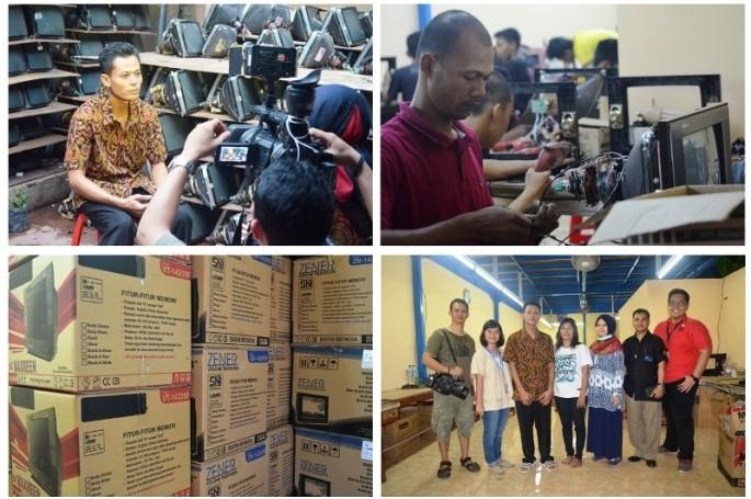 Kunjungan Antara TV & BSN Ke Haris Elektronik, Solo