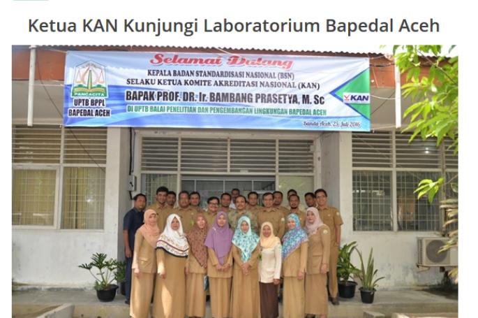 Ketua KAN Kunjungi Laboratorium Bapedal Aceh