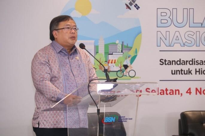 Menteri Bambang Permadi Soemantri Brodjonegoro Resmikan Acara Puncak Peringatan Bulan Mutu Nasional 2020