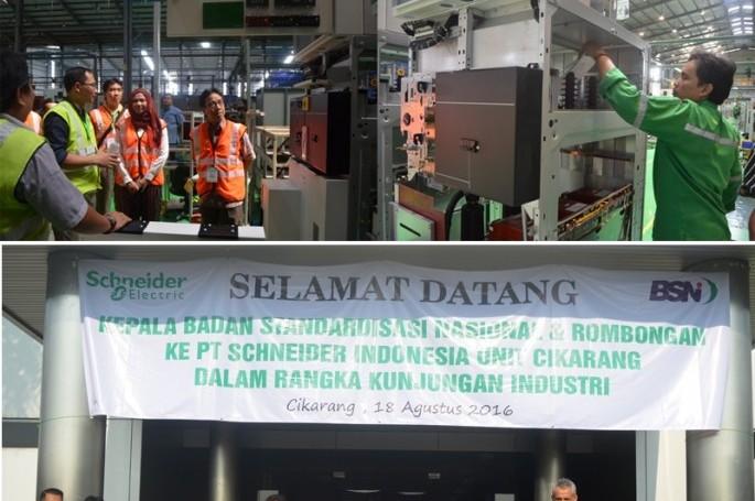BSN Kunjungi Penerima SNI Award 2015 : Schneider Electric Cikarang Plant