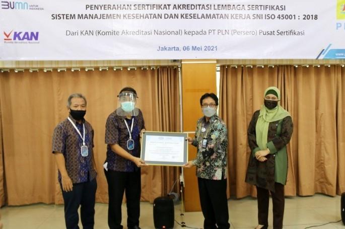 PT. PLN Pusat Sertifikasi Raih Akreditasi SNI ISO 45001:2018
