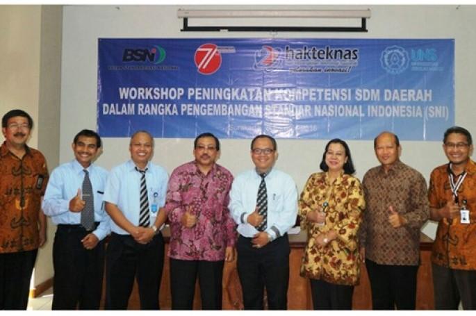 Workshop Peningkatan  Kompetensi Sumber Daya Manusia (SDM) Daerah dalam Pengembangan SNI