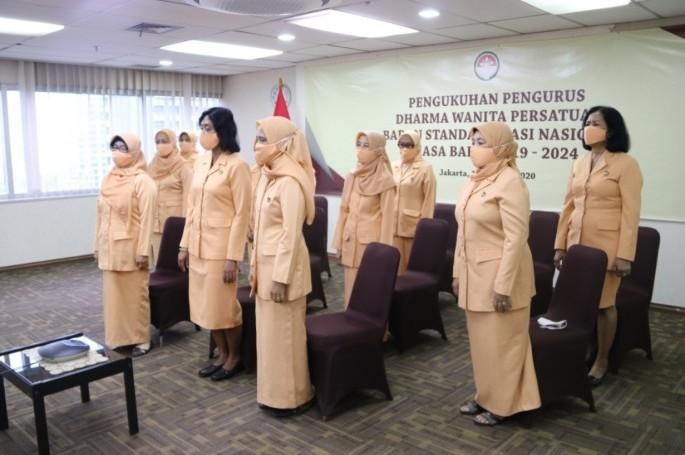 Pengukuhan Dharma Wanita Persatuan BSN Masa Bakti 2019-2024
