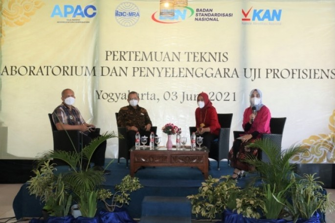 KAN Gelar Pertemuan Teknis Laboratorium dan Penyelengara Uji Profisiensi di Yogyakarta