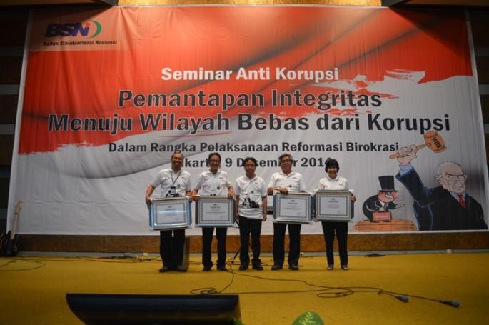 Seminar Hari Anti Korupsi Se-Dunia : BSN tetapkan 4 unit kerja sebagai WBK