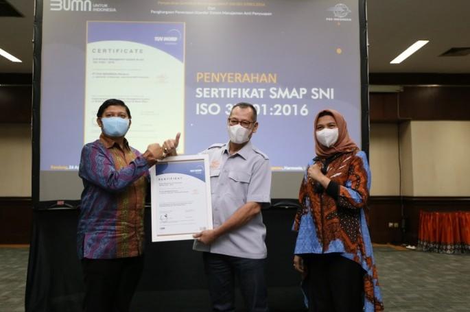 Komitmen Wujudkan Budaya Bersih dari Korupsi, PT. Pos Indonesia Raih SNI Sistem Manajemen Anti Penyuapan