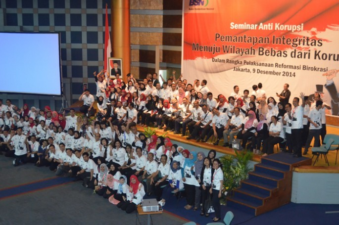 Seminar Hari Anti Korupsi Se-Dunia yang diselenggarakan oleh BSN dengan tema �Pemantapan integritas dalam rangka meningkatkan kinerja� diharapkan dapat menyamakan persepsi arti pentingnya pencegahan korupsi kepada seluruh pegawai BSN